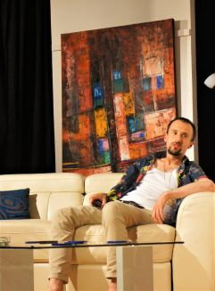 Karl on the couch